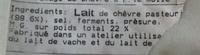 Douceur de Chèvre (22% MG) - Ingredients
