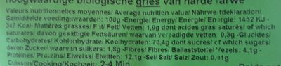 Spaghetti nids - Informations nutritionnelles - fr