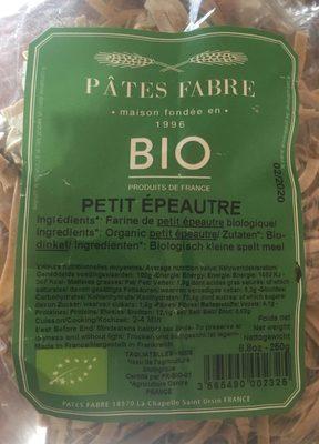 Tagliatelle Petit Epeautre - Produit