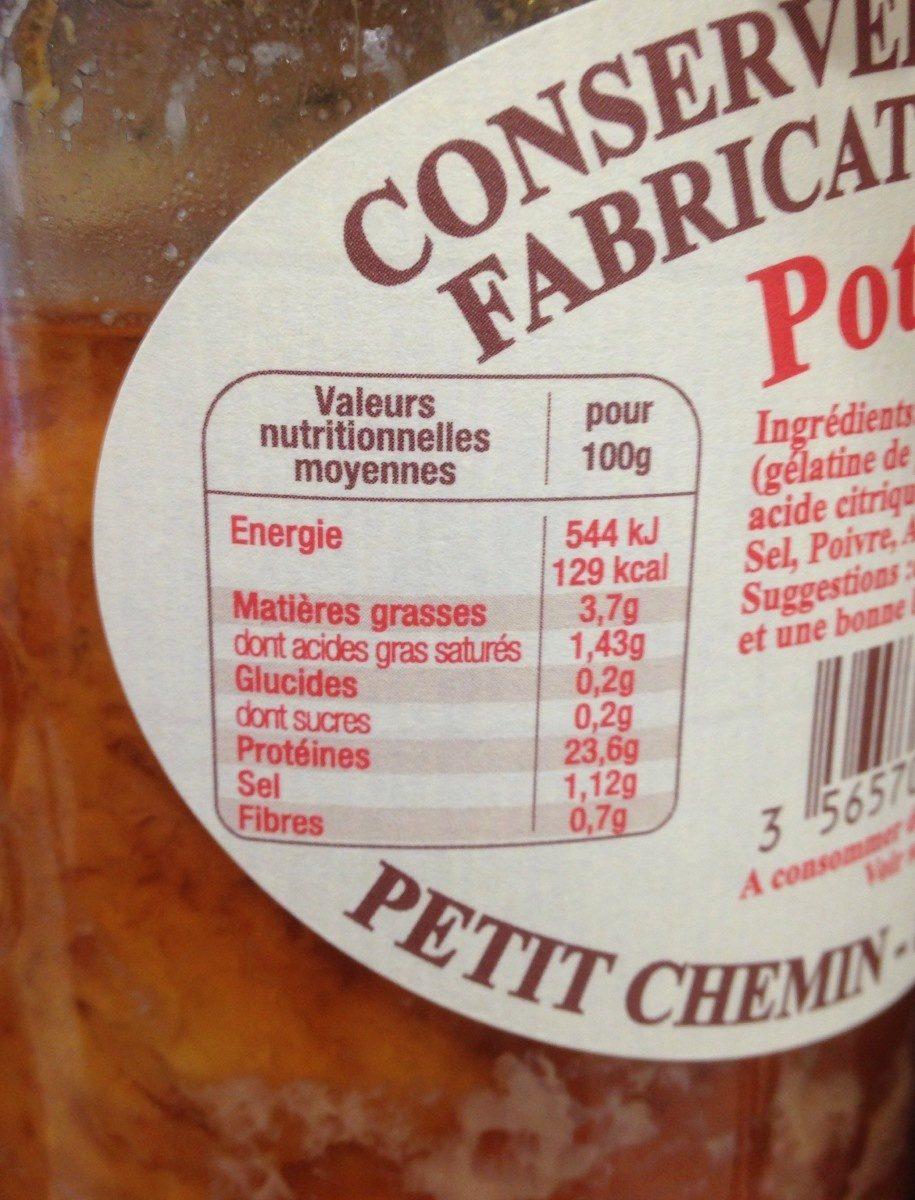 Pot'je Vlees - Informations nutritionnelles