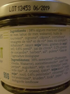 Pesto vert Algues & Herbes Aromatiques - Ingredients - fr