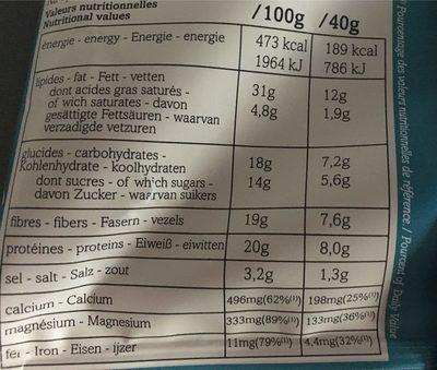 Tali Original - Informations nutritionnelles