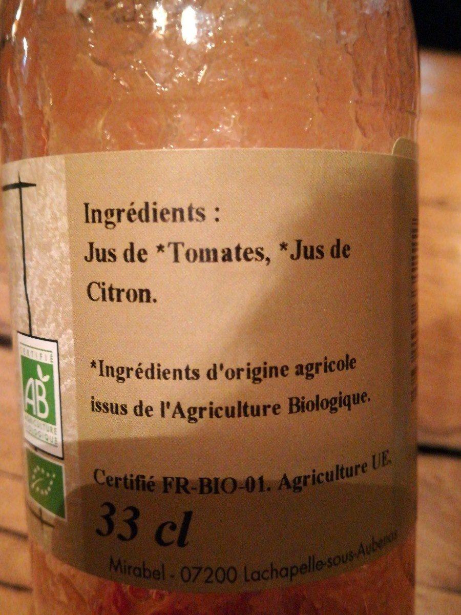 Tomate pur jus - Ingredients - fr