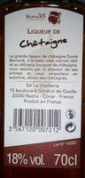 Liqueur de chataigne - Ingredients - fr