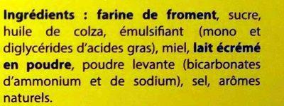 Biscuits de Chalais - Ingrédients - fr