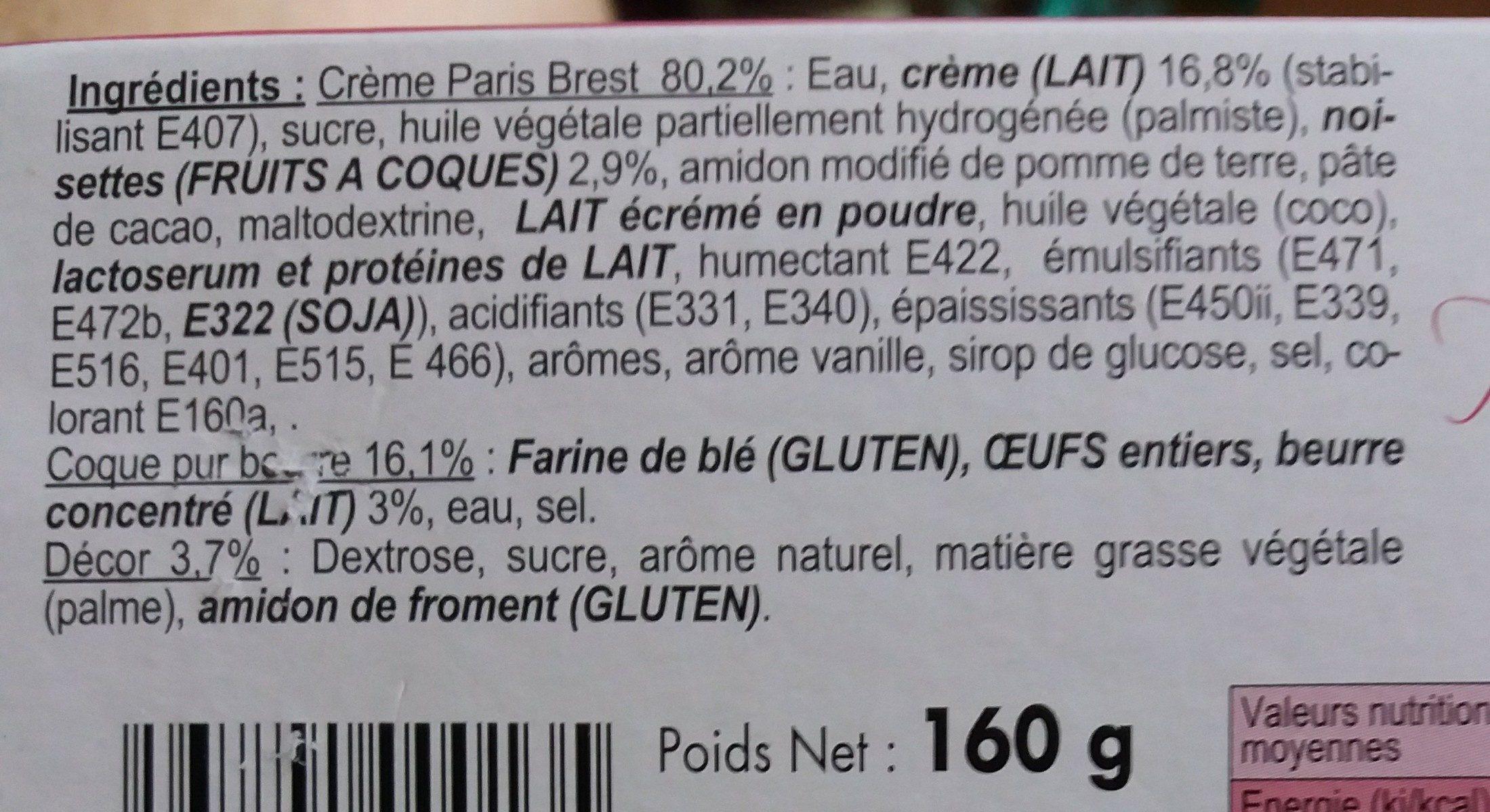 2 Paris Brest - Ingredienti - fr