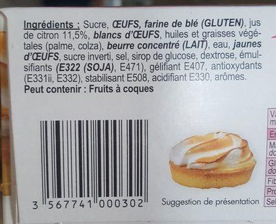 2 tartelettes citron meringuées - Ingredients