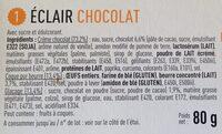 Eclair chocolat - Ingrediënten - fr