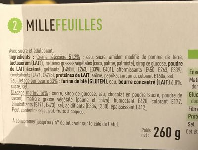 Mille feuilles - Ingrédients - fr
