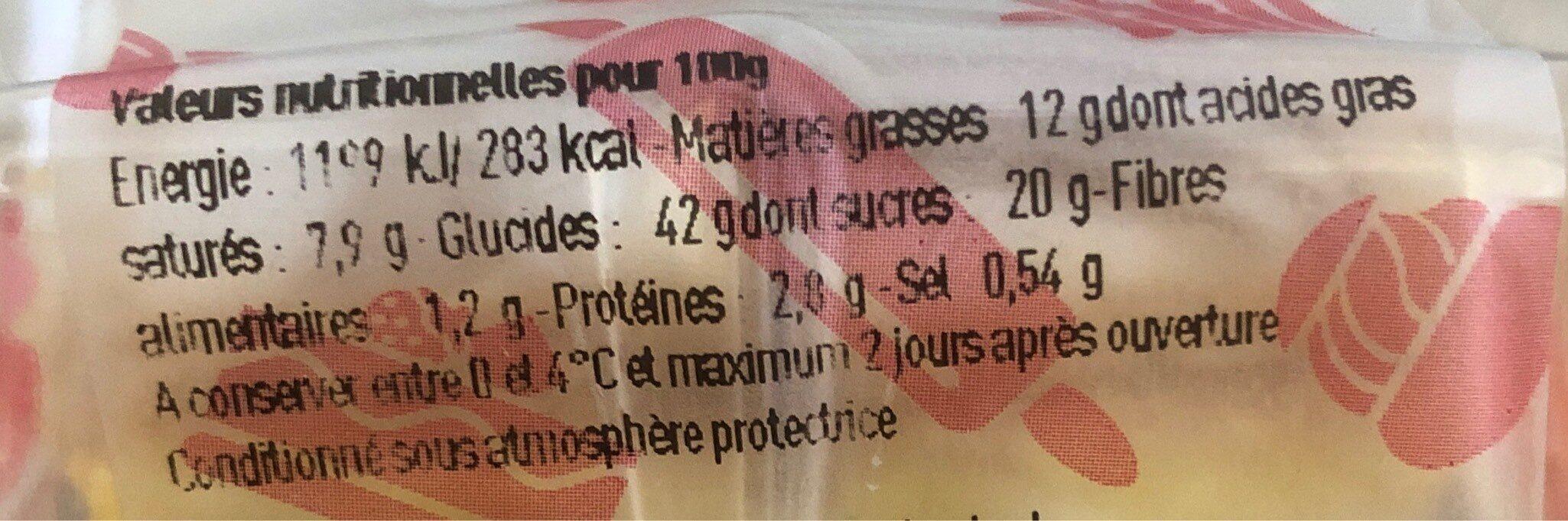 Mille feuilles - Informations nutritionnelles - fr