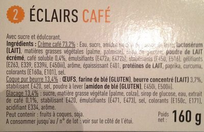 Éclairs Café - Ingredients - fr