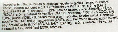 Tarte Chocolat Noisette - Ingrédients - fr