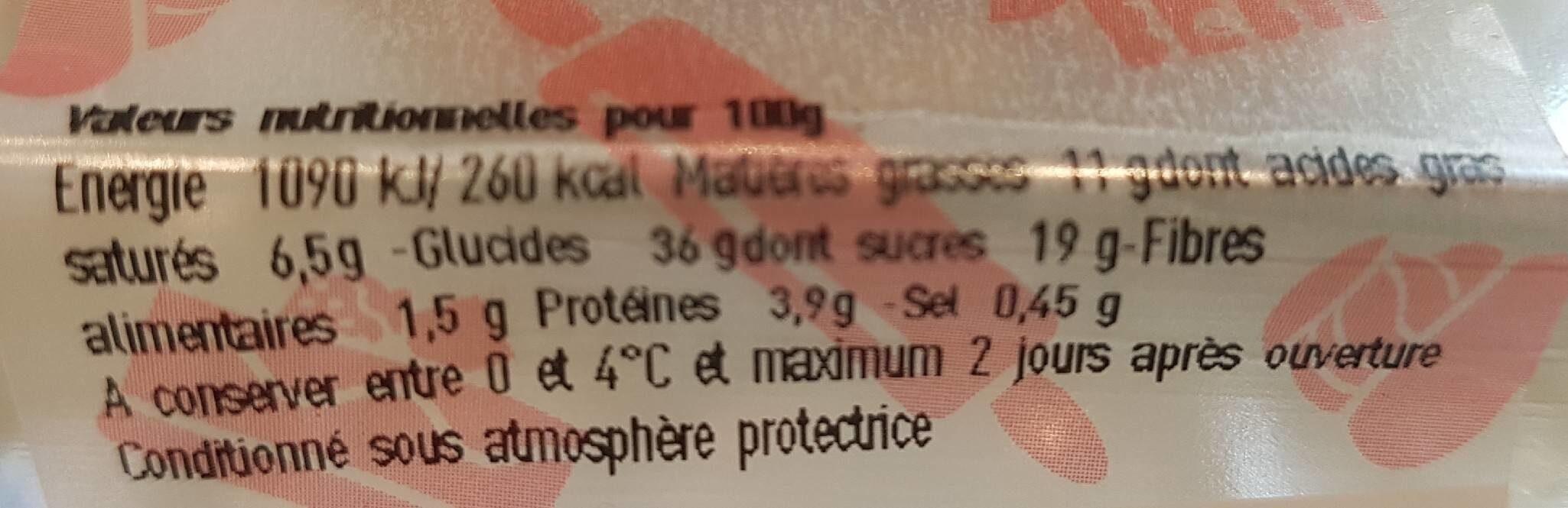 Éclair chocolat café - Valori nutrizionali - fr