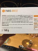 Sélectionné par votre magasin, Paris Brest, les 2 pièces 160 g - Ingrédients - fr