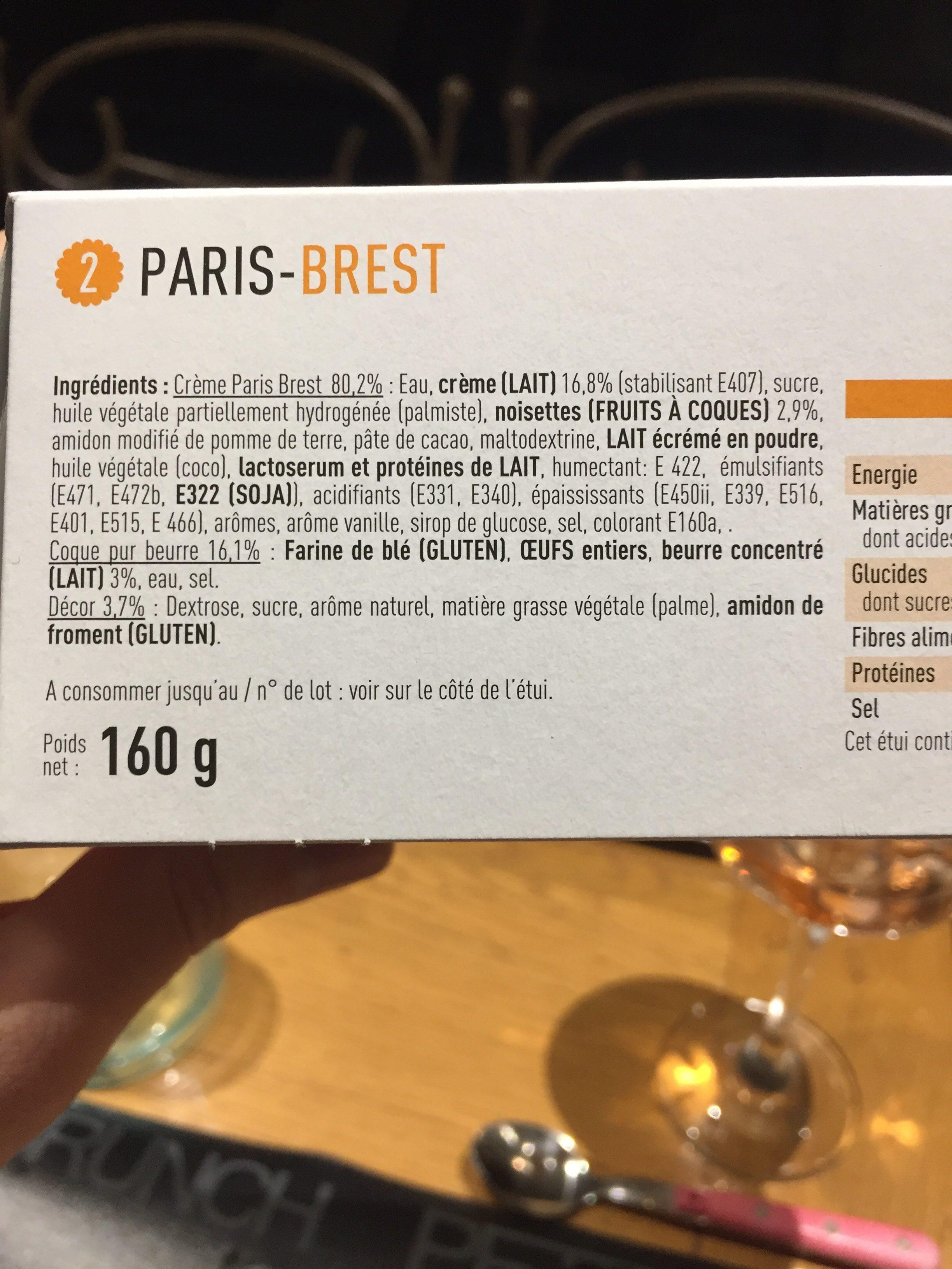 Sélectionné par votre magasin, Paris Brest, les 2 pièces 160 g - Ingredients