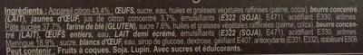 2 tartelettes au citron meringuées - Ingrédients - fr