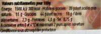 2 tartelettes au citron meringuées - Informations nutritionnelles - fr
