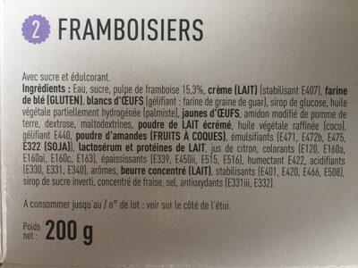 Framboisiers - Ingrédients - fr