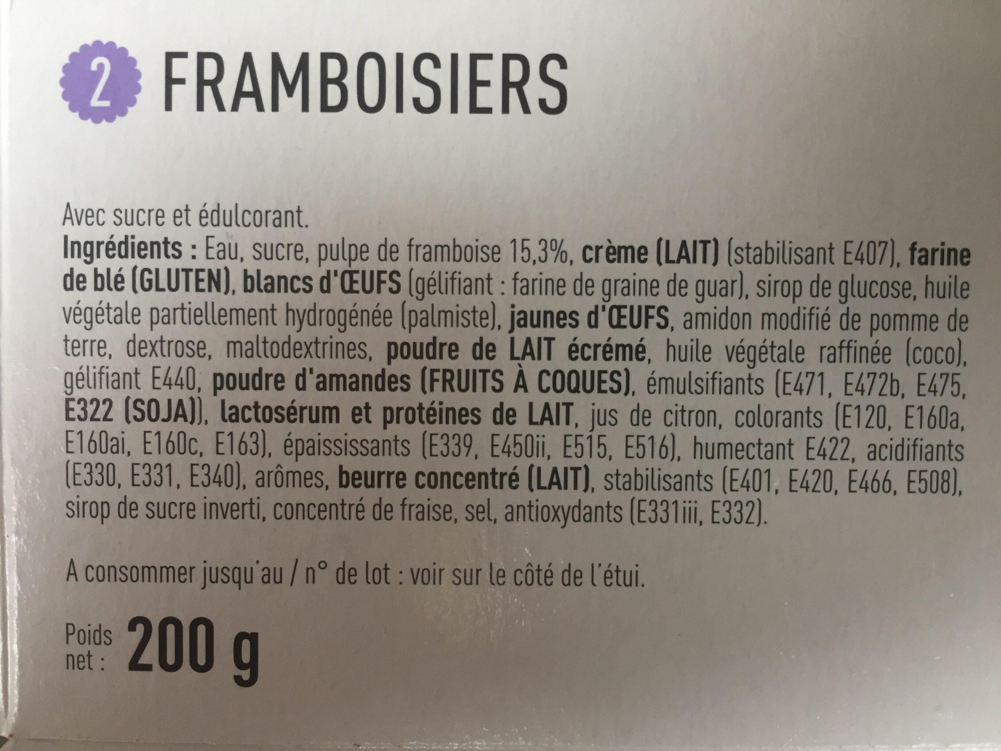 Framboisier Patiprestige x2 - Ingredients