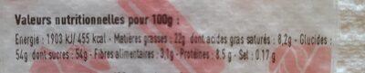 6 Macarons gourmands - Informação nutricional - fr