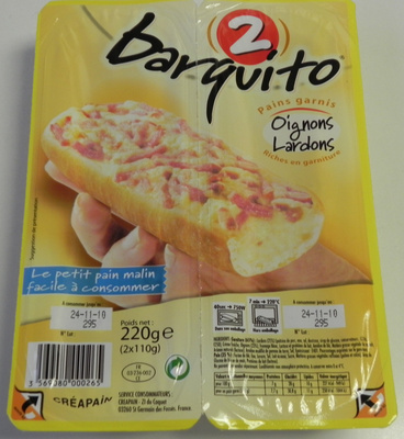 Barquito oignons lardons - Produit