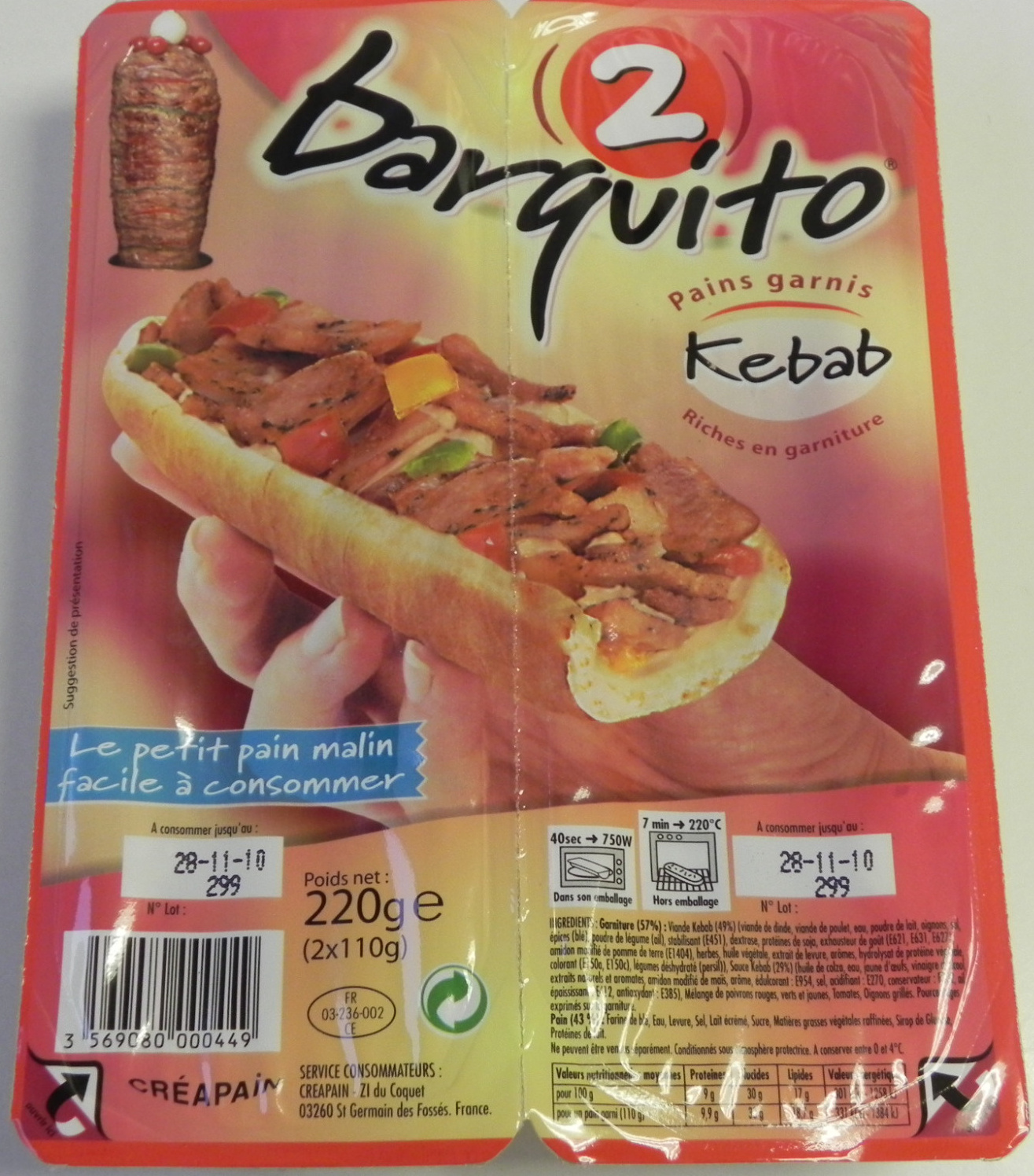 Barquito Kebab - Product - fr