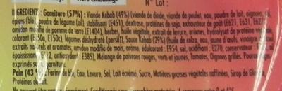 Barquito Kebab - Ingrediënten - fr
