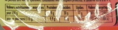 Barquito Kebab - Voedingswaarden - fr