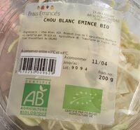 Chou blanc emincé bio - Product