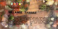 Mélange taboulé - Ingrédients - fr