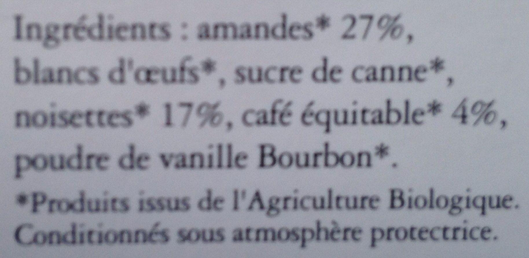 Biscuits Gourmets aux Amandes, Café & Noisette - Ingrediënten