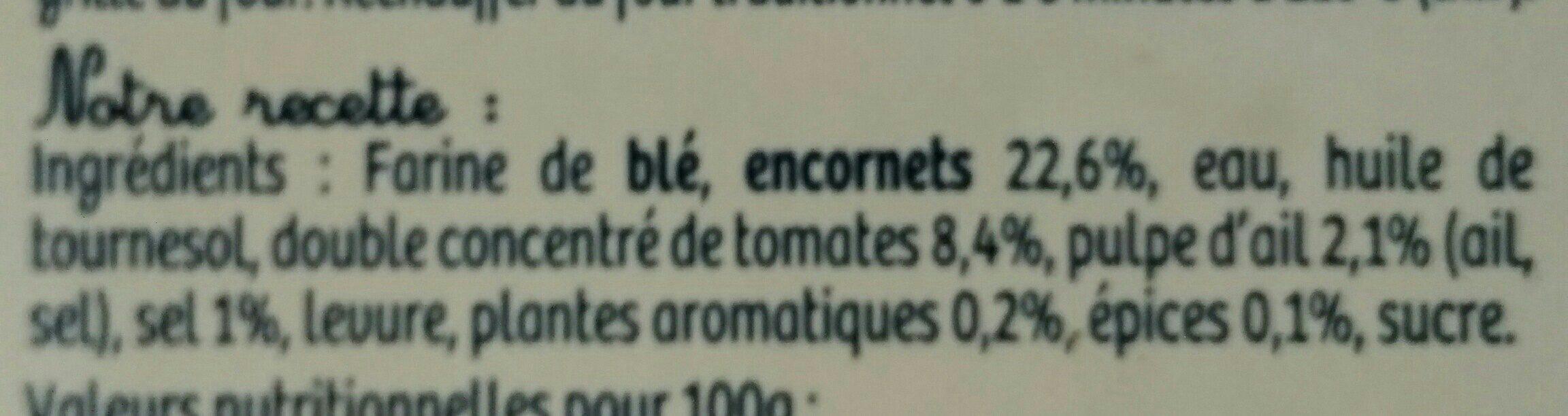 Tielles Sétoises BRIAU 2 pièces - Ingredients