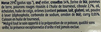 Barquette 200g acras crevettes - Ingrediënten