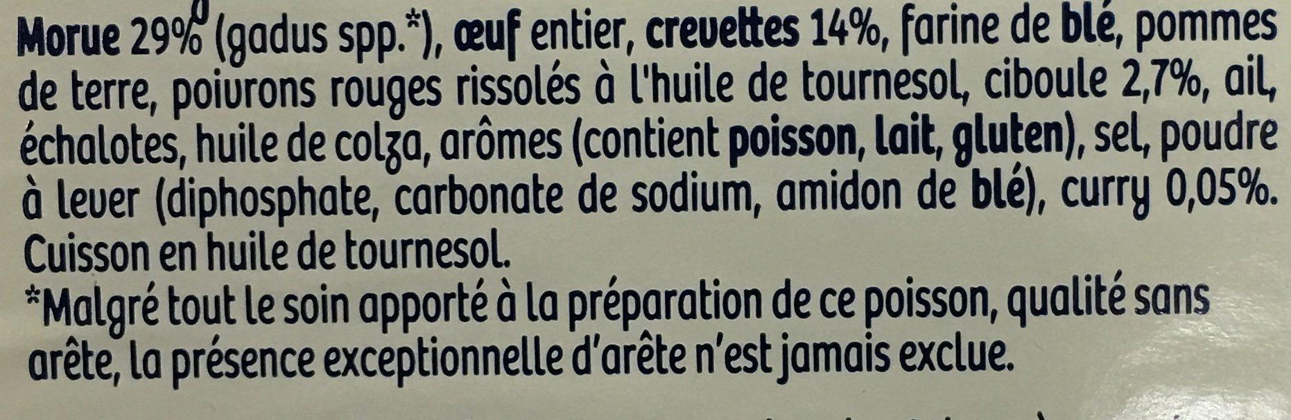 Barquette 200g acras crevettes - Ingrediënten - fr