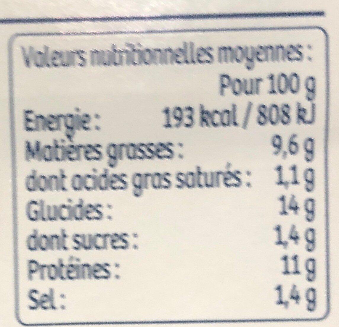 Barquette 200g acras crevettes - Voedingswaarden - fr