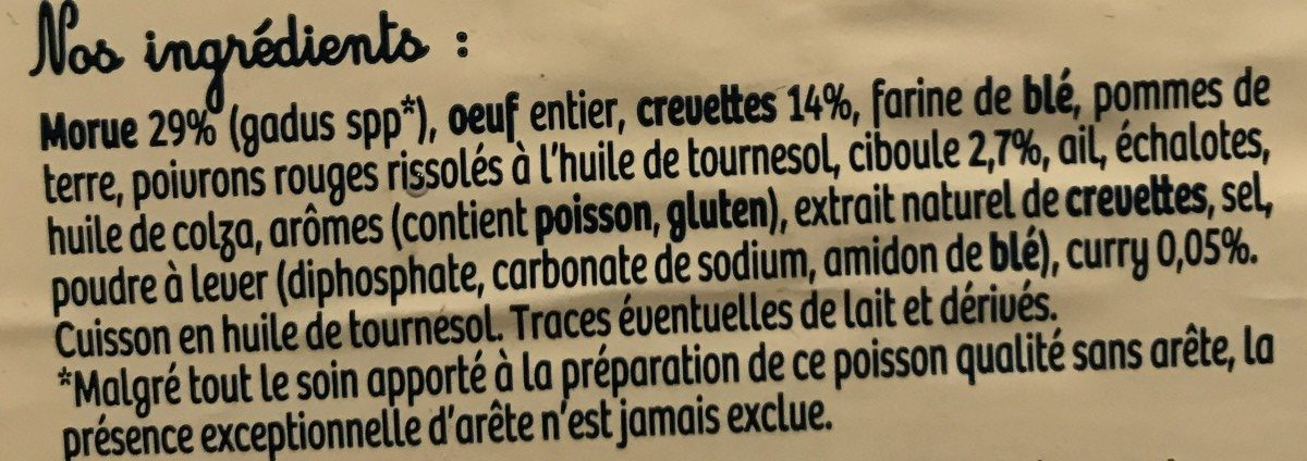 Acras de morue à la créole - Ingredients