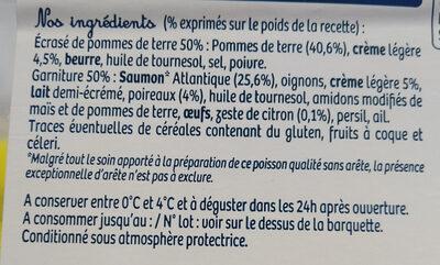 Parmentier de saumon - Ingredienti - fr
