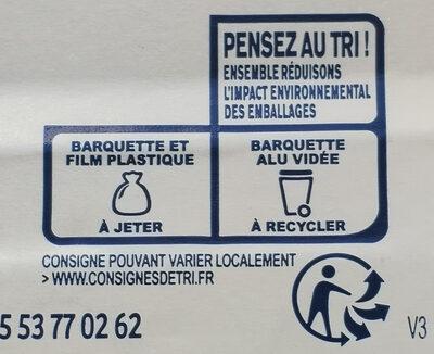 Parmentier de saumon - Istruzioni per il riciclaggio e/o informazioni sull'imballaggio - fr