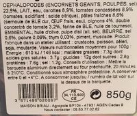 Les lasagnes du poissonniers - Ingredients - fr