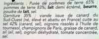 Parmentier de Canard du Sud-Ouest - Ingrédients - fr