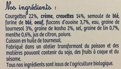 Croques aux crevettes - Ingredients