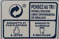Lasagnes au thon - Instruction de recyclage et/ou informations d'emballage - fr