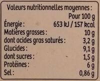 Parmentier à la truite des Pyrénéesp - Voedingswaarden - fr