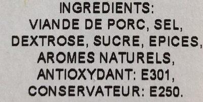 Speck - Ingrediënten