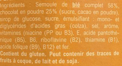 Pétale Choc' - Céréales - Ingredients - fr