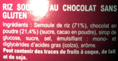 Riz Choc' - Ingredients - fr