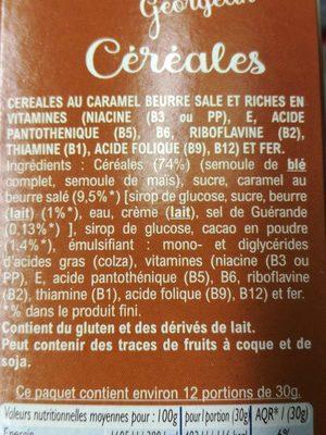 Céréales Croc cooki - Ingrediënten