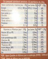 Céréales Croc cooki - Voedingswaarden