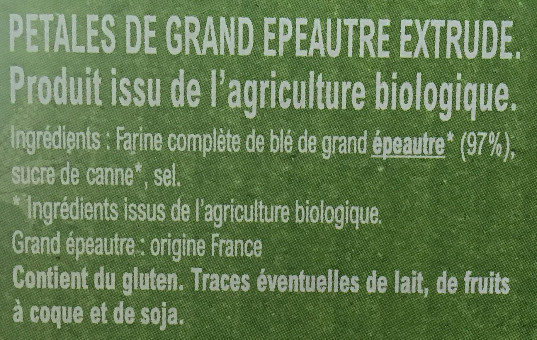 Pétales d'Epeautre - Ingredients - fr