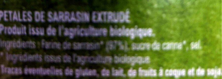 Petales de sarrasin - Ingredients - fr